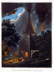 'A Kiln for Burning Coke  near Maidstone  Kent'  November 1799.