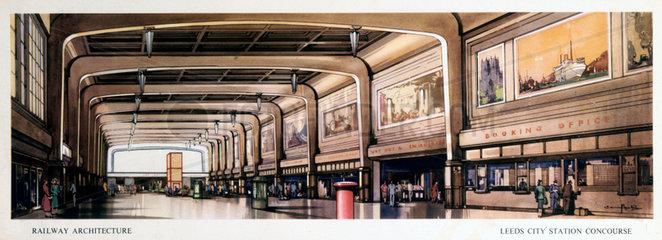 'Leeds City Station Concourse'  BR (LMR) ca