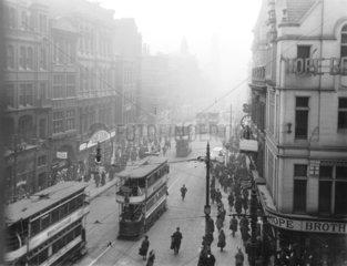 Market Street  Manchester  15 March 1921.