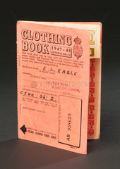 Clothing coupon book  1947-1948.