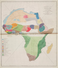 'Ethnographical Map of Africa  in the Earliest Times'  1843.