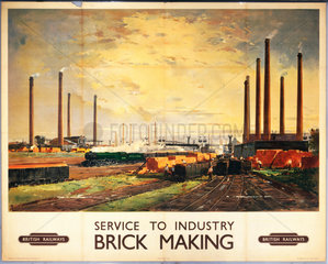 Service to Industry - Brick Making'  BR poster  c 1950s.