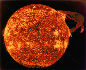 Large solar flare seen in extreme ultraviolet light  1973.