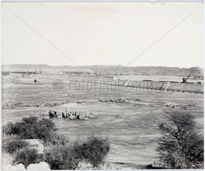 'North side of dam'  Aswan  Egypt  September 1901.