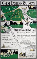 'Harlow Garden Village'  GER poster  c 1910.