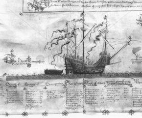 'Henri Grace a Dieu' warship  c 1540s.