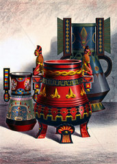 Ancient and modern pottery from Mexico  1876.
