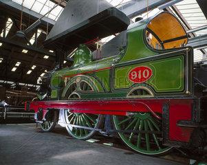 NER 2-4-0 steam locomotive  no.910  1875. T