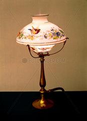 Ornamental gas table lamp  British  late 19th century.