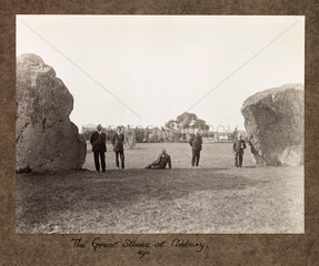 'The Great Stones At Avebury  1911'.