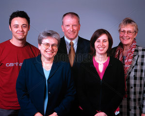 Five people of varying ages.