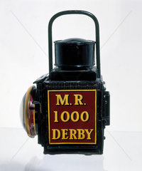Portable lamp used by the Midland Railway  1902.