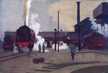'Ready for the Road'  original artwork for LMS poster  c 1930.