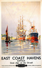 'East Coast Havens'  BR (ER) poster  c 1950s.