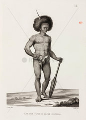 Man with Ichthyosis  'Island of the Papuans'  1817-1820.
