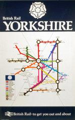 'British Rail - Yorkshire'  BR (E) poster  1977.