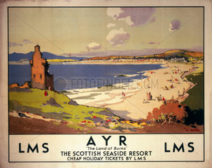 'Ayr: The Land of Burns'  LMS poster  1923-1947.