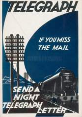 'If you miss the mail  send a night telegra