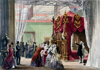 Austrian stand No 1 at the Great Exhibition  Crystal Palace  London  1851.