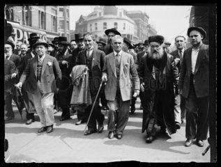 Jewish protest march  1933.