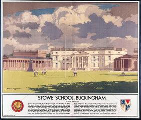 'Stowe School  Buckingham'  LMS poster  192