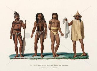 Men from the Caroline Islands  (now Micronesia)  1822-1825.
