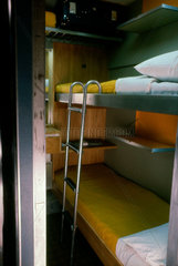 Convertible sleeper with top berth down  1965.