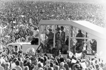 Pope John Paul II in Phoenix Park  Dublin  Ireland  September 1979.