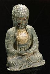 Statue of a seated Buddha  India  1700s.