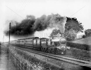 LNWR locomotive 2-2-2-0 No 1305 'Doric' hea
