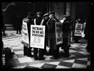 Pensioners protesting  1938.