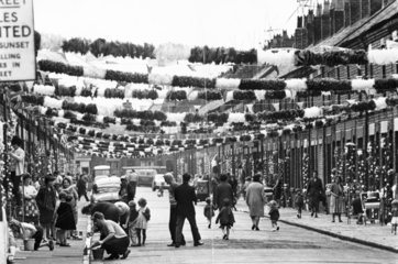 Street decorations during the World Cup  Claudia Street  Liverpool  1966.