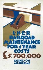 'LNER Railroad Maintenance'  LNER poster  1926.