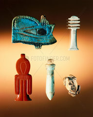 Group of Ancient Egyptian amulets  4000-30 BC.