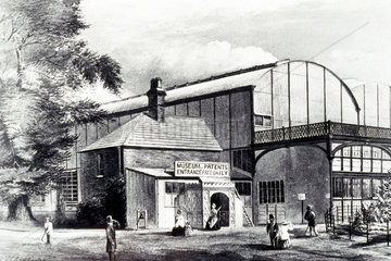Entrance to the Patent Museum  1863.