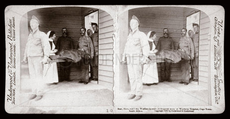 'Rest  Hero  rest! A scene at Wynberg Hospital  Cape Town'  1900.