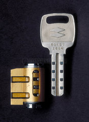 NT-MIWA cylinder lock and key  c 1990.