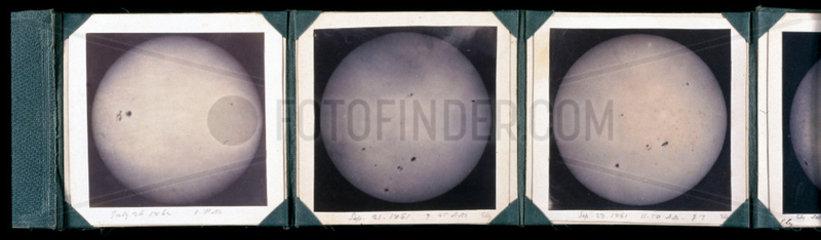 Autographs of the sun  1861-1863.