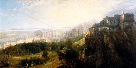 View of Edinburgh  Scotland  mid 19th century.