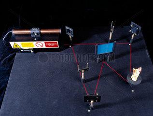 Transmission hologram table  c 1990s.