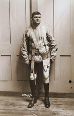 Soldier with prosthetic legs  c 1915-1918.
