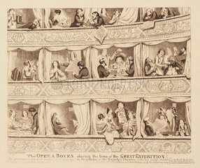 'The Opera boxes during the time of The Great Exhibition'  1851.