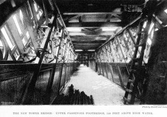 Tower Bridge  London  Upper Passenger Footbridge  1894