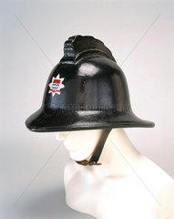 Black firefighting helmet  1966.