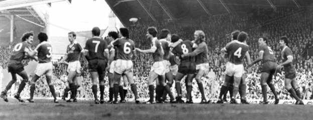 Fight on the pitch  20 October 1979.