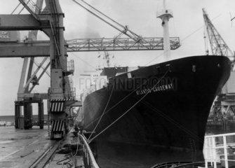 'Atlantic Causeway' moored at a dock  11 December 1969.