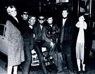 Young Mods showing off their 'dog collars'  Kent  October 1964.