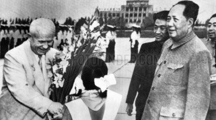 Khrushchev and Mao  China  1958.
