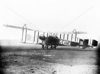Handley-Page  0/400 G-EAMD Civil Conversion  December 1919.
