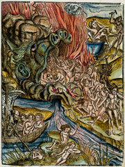 Charon  the ferryman of the underworld  in Hell  1535.